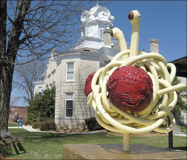 flying spegetti monster statue