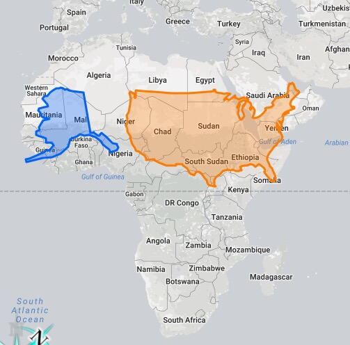 The True Size Of Alaska Revealed Peoples Trust Toronto - Alaska over the us map