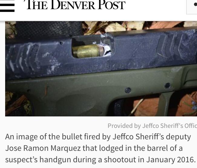 Deputy Fired Shot Into Suspect's Gun Barrel, Jamming It
