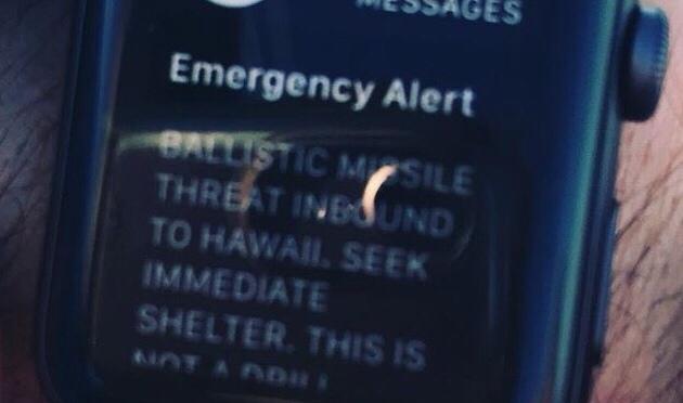 Ballistic Missile Emergency Alert To People In Hawaii, 1/13/2018, 8:08 AM