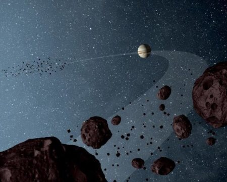 Jupiter: Once an earth-sized ice asteroid farther from Sun