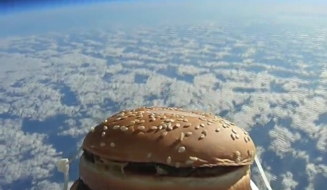 A Hamburger Sent into Space Tastes Like…?